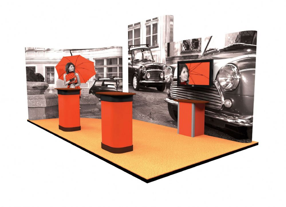 Exhibition Stand Packages : Pop up stand conference kit with rear projection screen